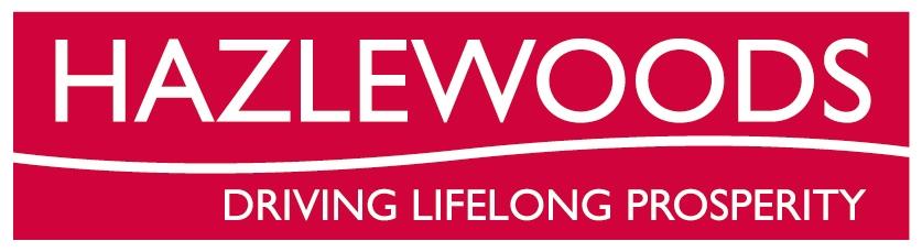 The logo for hazlewoods