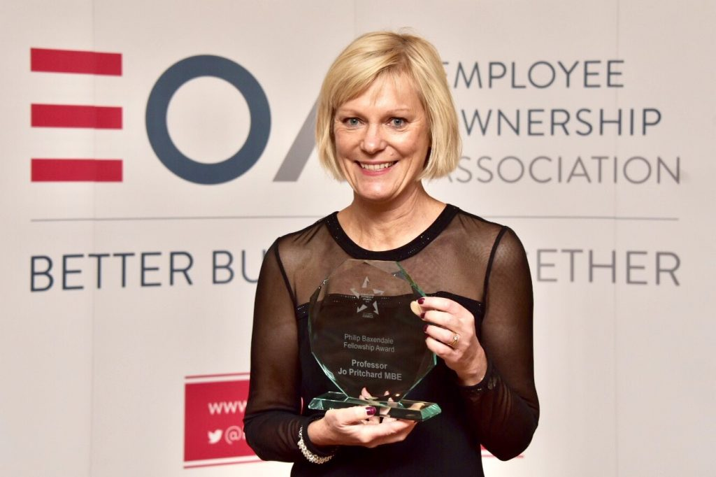 Jo Pritchard - Philp Baxendale Fellowship Award