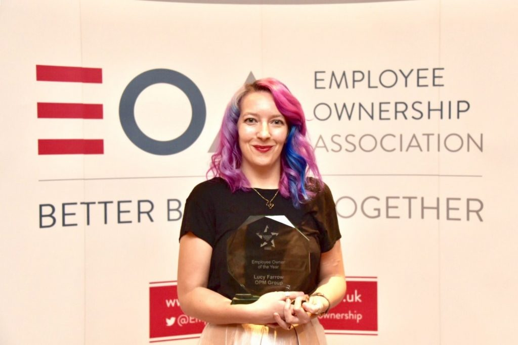 Lucy Farrow, OPM UK Employee Ownership Awards 2017 Employee Owner of the Year