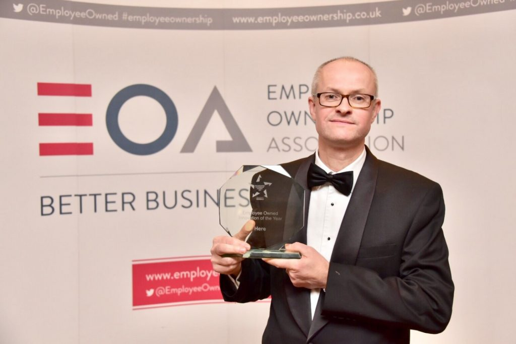 Matthew Riley Here - Employee Owned Innovation of the Year